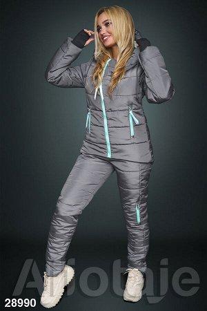 Зимний костюм с рукавом-митенками