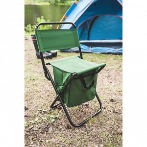 УЦЕНКА Стул туристический с сумкой, до 60 кг, размер 35 х 26 х 60 см, цвет зелёный