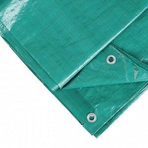 Тент защитный, 4 ? 3 м, плотность 90 г/м?, люверсы шаг 1 м, тарпаулин, УФ, светло-зелёный
