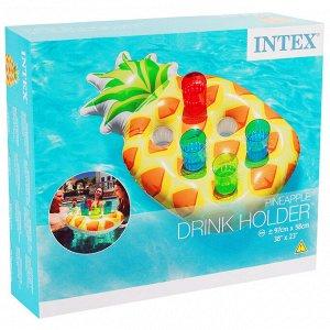 Держатель для напитков плавающий «Ананас», для 6 шт, 97 х 58 см, от 3 лет, 57505NP INTEX