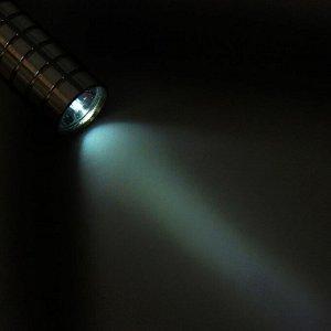 Фонарь ручной, 1 LED, на рассеивателе грани, хром, 2 АА, 14.5 см