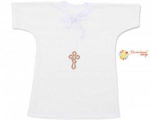 Рубашка - кофточка для крещения (кулир) ПРИНТ
