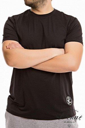 Футболка Футболка свободного силуэта выполнена из однотонного бифлекса. С коротким втачным рукавом и круглым вырезом горловины. Слева внизу расположен декоратиный элемент. Размерный ряд:44-62. Состав