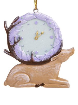 Новогоднее подвесное украшение Часы-Олень