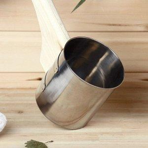 """Ковш для бани из нержавеющей стали, 1.2л, 42 см, с ручкой, """"Добропаровъ"""""""