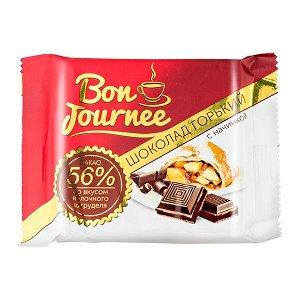Шоколад Спартак Bon Journee Горький 56% с начинкой со вкусом яблочного штруделя 80 г 1 уп.х 29 шт.