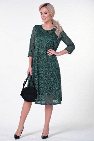 Платье Алана №1. Цвет:зеленый
