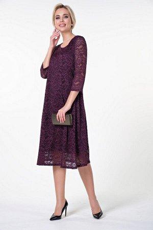 Платье Алана №2. Цвет:баклажановый