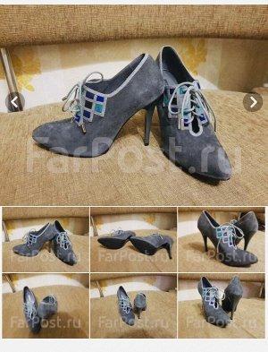 Ботильоны на каблуке со шнуровкой для вечерины