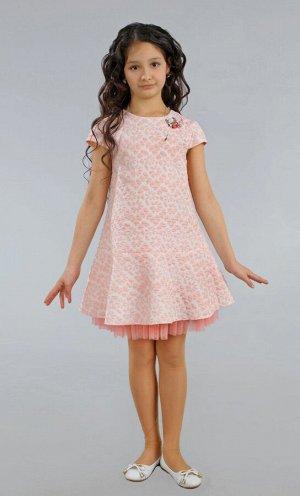 Платье Количество в упаковке: 1; Артикул: СС-ПЛ-9797; Цвет: ПудраСкачать таблицу размеров                                                Нарядное платье из фактурного жаккарда на хлопковой подкладке.