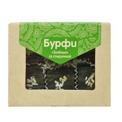 Бурфи Зеленые с БИО спирулиной, 130 гр
