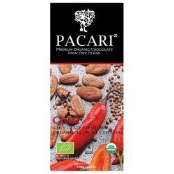 Органический шоколад Pacari с перцем чили 60%, 50 гр
