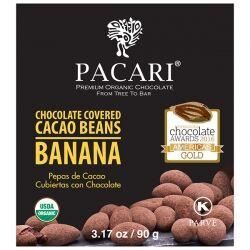 Какао-бобы в органическом шоколаде с бананом Pacari, 90 гр