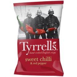 Картофельные чипсы со сладким перцем чили и красным перцем Tyrrells, 150 гр