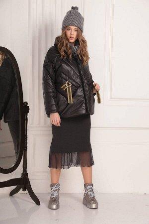 Куртка Куртка AMORI  2087 черная  Состав ткани: ПЭ-100%;  Молодёжная зимняя куртка на молнии. Длина на рост 164 см - 70, рукав от горловины 65. На рост 170 см - 75, рукав от горловины 69