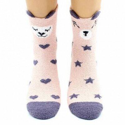 Теплые носочки Hobby Line! Новогодние! Ангора, махра  — Носки женские махровые-пенка — Носки