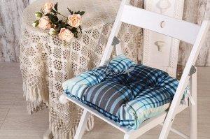 Подушка для стула Константа(син) 45*45