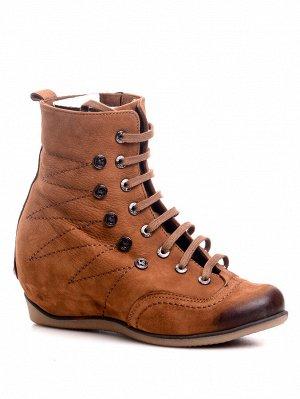 Ботинки Страна производитель: Турция Полнота обуви: Тип «F» или «Fx» Сезон: Зима Материал верха: Нубук Материал подкладки: Натуральный мех Каблук/Подошва: Танкетка Высота каблука (см): 6 Стиль: Повсед