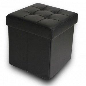 Пуфик складной DreamBag, цвет чёрный, экокожа