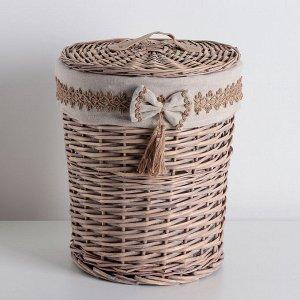 Корзина универсальная плетёная Доляна «Бантик», 30?30?38 см