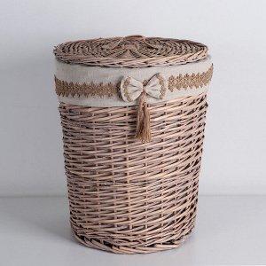 Корзина универсальная плетёная Доляна «Бантик», 36?36?46 см