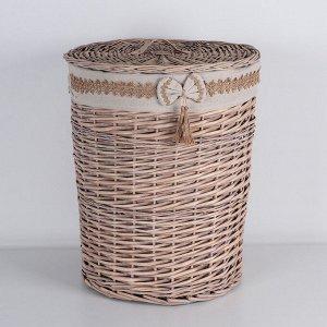 Корзина универсальная плетёная Доляна «Бантик», 46?46?56 см