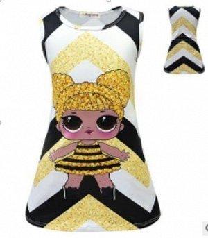1949 (130 см) Платье кукла (желтое)