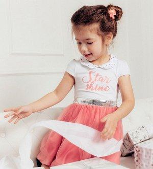 Платье для девочки, кулирка+фатин