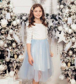 Платье для девочки, милано+фатин