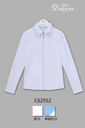 Блузка Длинный  рукав Белый