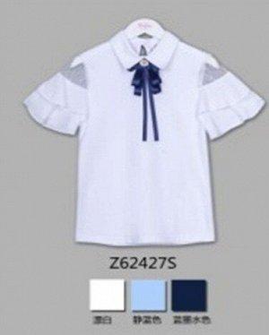 Блузка Короткий  рукав Белый