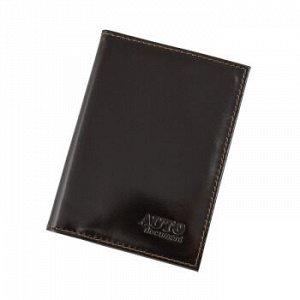 Бумажник водителя Premier, натур.кожа, с отд. д/кредитн.карт, Темно-коричневый №88