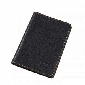 Бумажник водителя Premier, натур.кожа, с отд. д/кредитн.карт, Черный флоттер №10