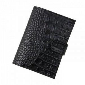 Бумажник водителя Premier, натур.кожа, с хлястиком, с отд. д/кредитн.карт, Черный кайман №126