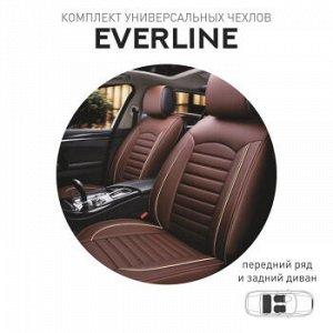 Чехлы (накидки) CARFORT Everline, экокожа, комплект, коричневый