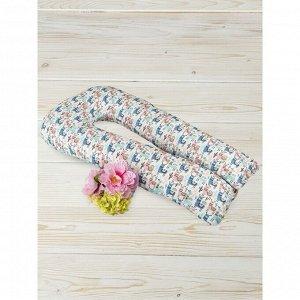 Подушка для беременных  u-образная, размер 35 ? 340 см, принт ламы