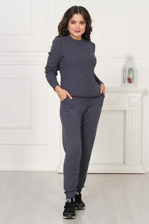 Брюки Брюки А-184/синий микс  Состав:30% Шерсть 70% Пан Брюки вязаные, женские. Необычайно удобные и комфортные. Благодаря растяжимости трикотажного полотна, брюки особенно удобны в носке. Силуэт св