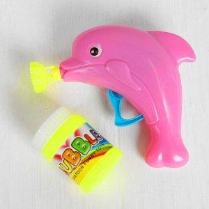 Мыльные пузыри «Дельфин на волне» с насадкой, 60 мл, цвета МИКС