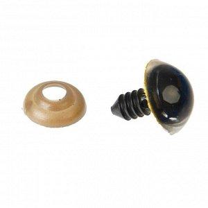 Глаза винтовые с заглушками, «Блёстки» набор 30 шт, размер 1 шт: 1,6 см, цвет жёлтый
