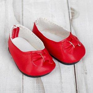 Туфли для куклы «Бантик», длина стопы: 7 см, цвет красный