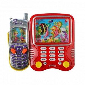 Водная игра «Телефон», 2 игры, цвета МИКС