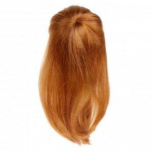 Волосы для кукол «Косички» размер средний, цвет каштановый