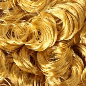 Волосы для кукол «Кудряшки» 70 г, размер завитка: 1 см, цвет D708