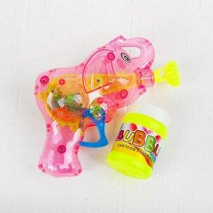 Мыльные пузыри «Слоник-пистолет» со светом, 50 мл, цвета МИКС