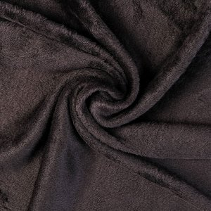 """Плюш трикотажный """"Gamma"""" 50х50 см, 390 г/кв. м., 50% хлопок, 50% п/э, (2-ой сорт) чёрный"""