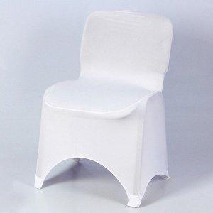 Чехол свадебный на стул, белый