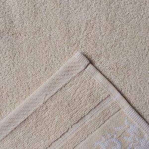 Полотенце махровое Papatya Color, размер 70х130 см, цвет бежевый, хлопок 100%