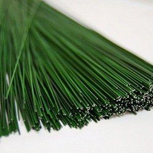 Проволока флористическая зелёная 60 см 0,9 мм 50 шт