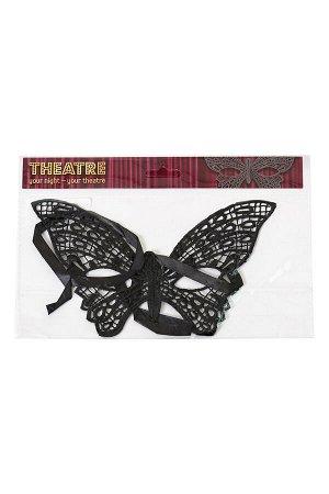 Маска нитяная Toyfa Theatre «Бабочка», текстиль, черная