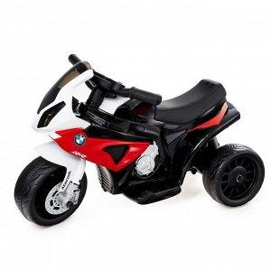 Электромотоцикл BMW S1000 RR, кожаное сиденье, цвет красный